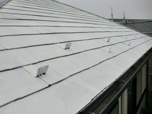 屋根下塗り写真