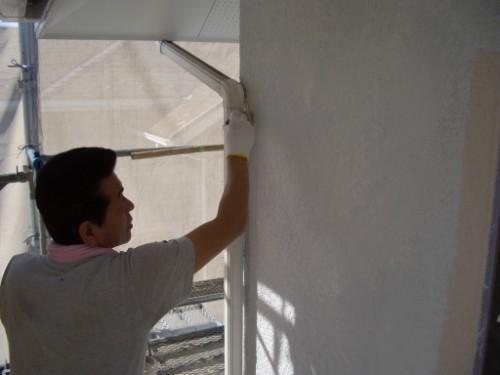 外壁の中塗り写真