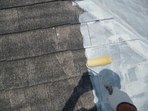 屋根の遮熱下塗り